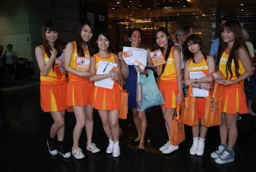 The first winner won a free air ticket to Bangkok